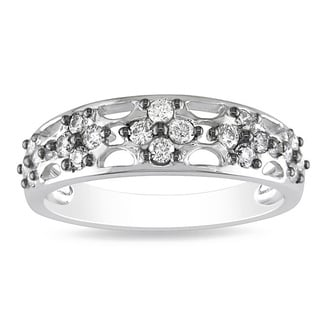 Miadora 14k White Gold 2/5ct TDW Diamond Ring