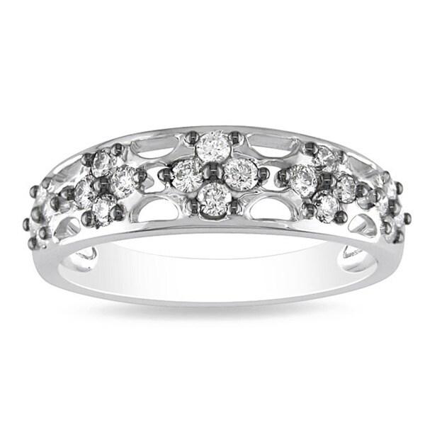 Miadora 14k White Gold 2/5ct TDW Diamond Ring
