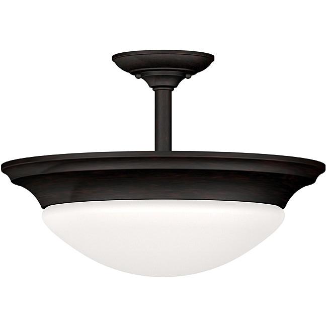 Walton 2-light Oil Rubbed Bronze Semi-flush