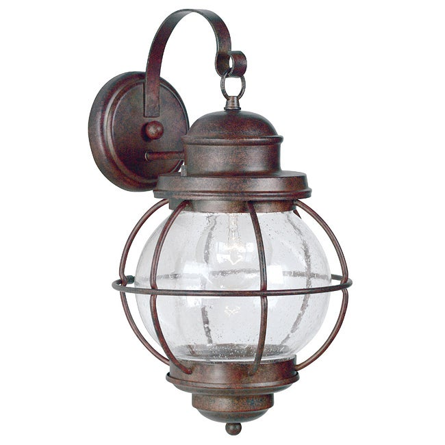 Flagler One Light Extra Large Gilded Copper Wall Lantern