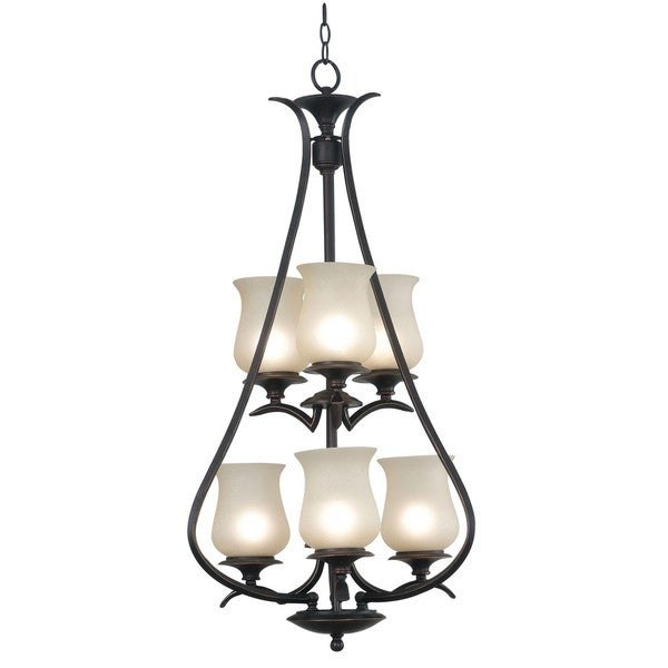 Hardee 6-light Oil Rubbed Bronze Foyer Chandelier
