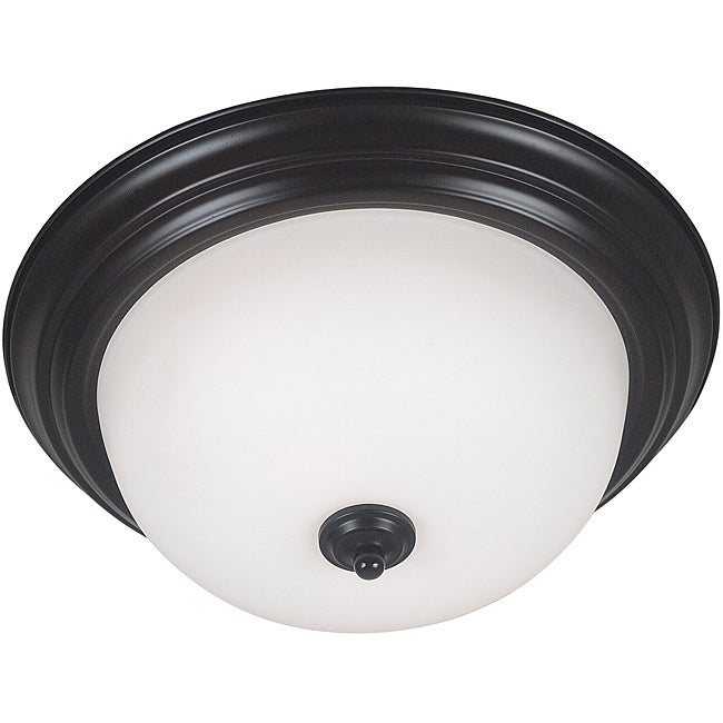 Bay 2-light Oil Rubbed Bronze Flush Mount