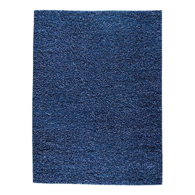 M.A.Trading Hand-woven Shanghai Mix Blue Wool Rug (8'3 x 11'6)