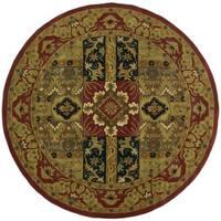 Hand-tufted Ashton Olive Round Wool Rug (6' Round) - 8' x 8'