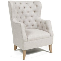 Kosas Home Raven Light Cream Club Chair - Thumbnail 0