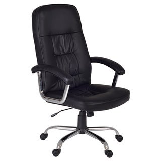 Carrera Leather Fabric High Back Office Chair