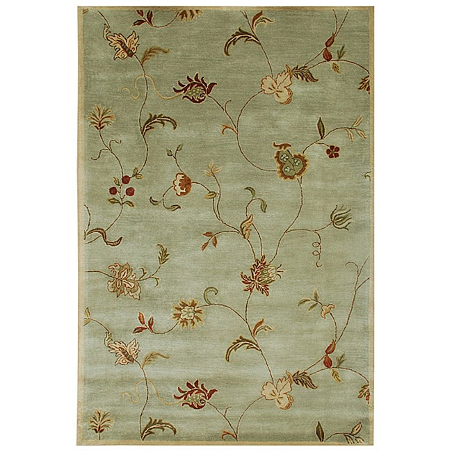 Hand-tufted 'Diana' Green Wool Rug (3'6 x 5'6)