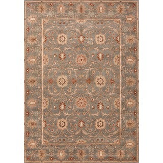 "Transitional Hand-Tufted Floral Wool Rug (3'6"" x 5'6"")"