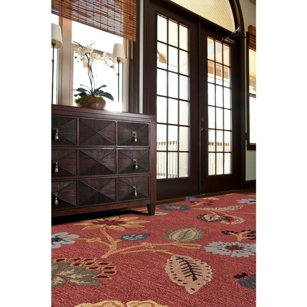 Hand-tufted Red Wool Rug (2' x 3')