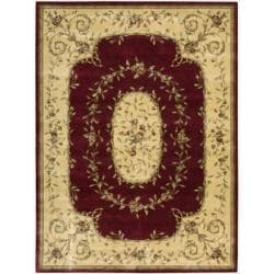 "Nourison Chambord Red Floral Rug - 5'6"" x 7'5"" - Thumbnail 0"