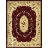 "Nourison Chambord Red Floral Rug - 5'6"" x 7'5"""