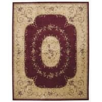 Nourison Chambord Red Floral Rug - 7'6 x 9'6