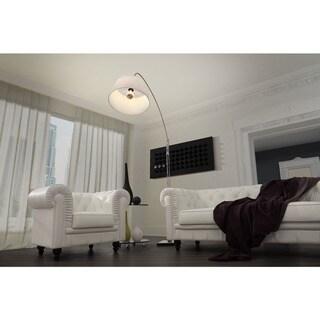 Alpha White Fabric Floor Lamp