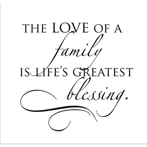 Vinyl Attraction 'The Love of a Family' Vinyl Wall Decal