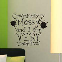 Vinyl Attraction 'Creativity is messy' Vinyl Wall Decal