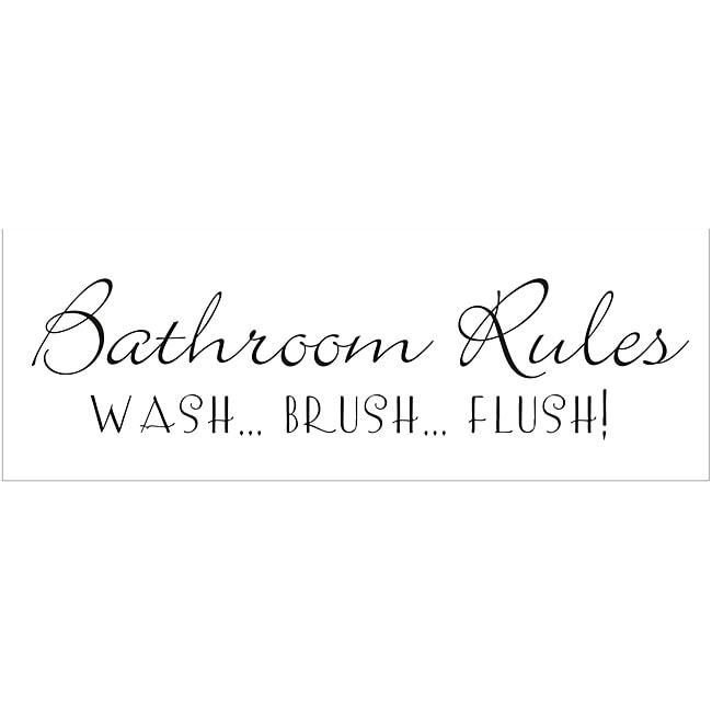 Vinyl Attraction U0026#x27;Bathroom Rules.