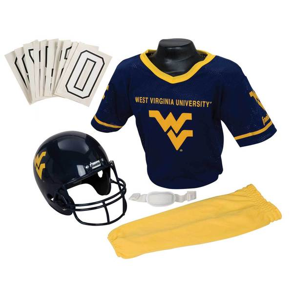 Franklin Sports Youth West Virginia Football Uniform Set