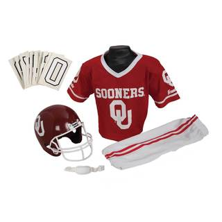 Franklin Sports Youth Oklahoma Football Uniform Set