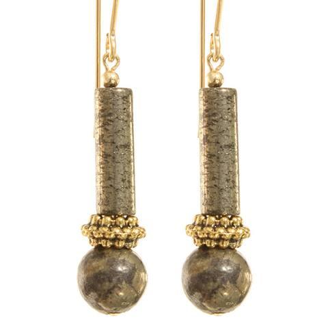 Elu Pyrite Earrings