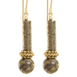 Elu Pyrite Earrings