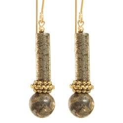 'Elu' Pyrite 14k Gold-fill Earrings