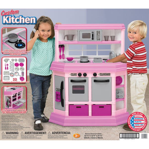 American Plastic Toys Custom Kitchen Play Set Overstock 6287204