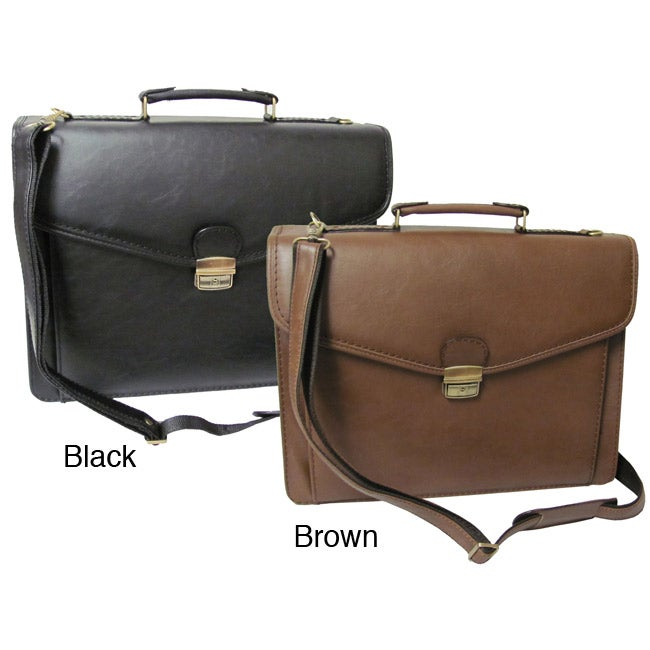 Amerileather Cleveland Executive Faux Leather Briefcase - Thumbnail 0