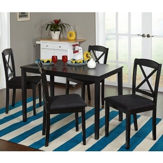 Porch & Den Third Ward Wisconsin Black 5-piece Crossback Dining Set