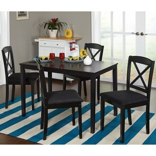 Simple Living Black 5-piece Crossback Dining Set
