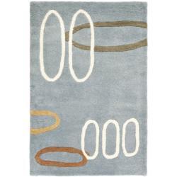 Safavieh Handmade Soho Modern Abstract Blue Wool Rug (2' x 3')