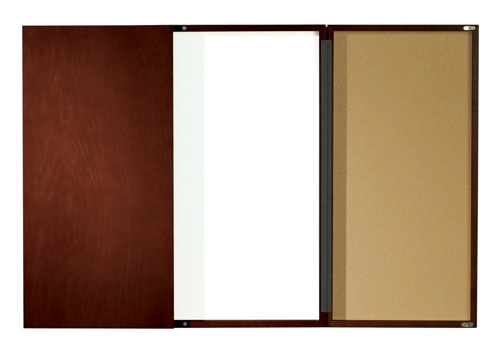 Charmant Mahogany Finish Executive Conference Room Dry Erase Board Cabinet