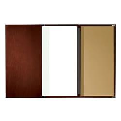 Mahogany-finish Executive Conference Room Dry Erase Board Cabinet