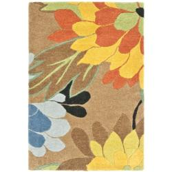 Safavieh Handmade New Zealand Wool Garden Brown Rug (2' x 3')