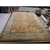 Safavieh Handmade Eden Brown/ Blue Hand-spun Wool Rug - 5' x 8'