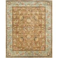 Safavieh Handmade Eden Brown/ Blue Hand-spun Wool Rug - 8' x 10'