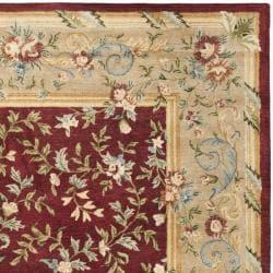 Safavieh Handmade Gardens Red/ Dark Beige Hand-spun Wool Rug (9'6 x 13'6) - Thumbnail 1