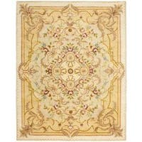 Safavieh Handmade Aubusson Creteil Beige/ Light Gold Wool Rug - 8'3 x 11'