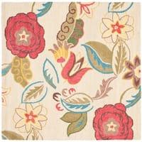 Safavieh Handmade Blossom Paisley Beige Wool Rug - 6' x 6' Square