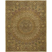 Safavieh Handmade Heritage Timeless Traditional Light Brown/ Grey Wool Rug - 7'6 x 9'6