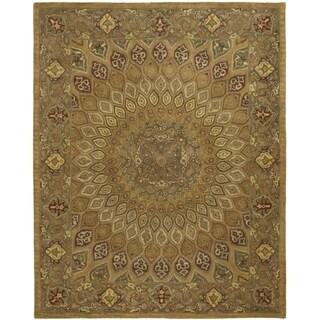 Safavieh Handmade Heritage Timeless Traditional Light Brown/ Grey Wool Rug (7'6 x 9'6)