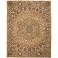 "Safavieh Handmade Heritage Timeless Traditional Light Brown/ Grey Wool Rug - 7'6"" x 9'6"""
