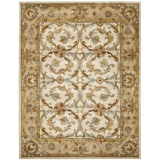 Safavieh Handmade Heritage Timeless Traditional Beige/ Gold Wool Rug (6' x 9')