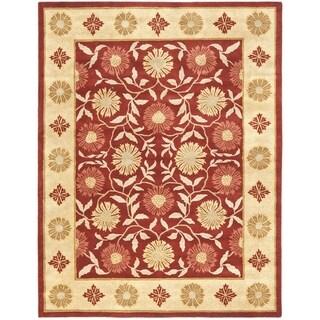 Safavieh Handmade Heritage Timeless Traditional Red/ Beige Wool Rug (5' x 8')