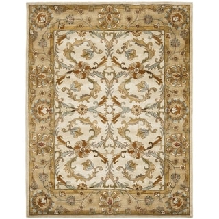 Safavieh Handmade Heritage Timeless Traditional Beige/ Gold Wool Rug (7'6 x 9'6)