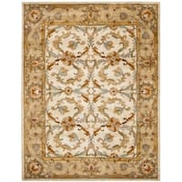 "Safavieh Handmade Heritage Timeless Traditional Beige/ Gold Wool Rug - 7'-6"" x 9'-6"""