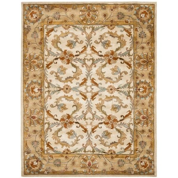 "Safavieh Handmade Heritage Timeless Traditional Beige/ Gold Wool Rug - 7'6"" x 9'6"""
