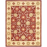 Safavieh Handmade Heritage Timeless Traditional Red/ Beige Wool Rug - 7'6 x 9'6