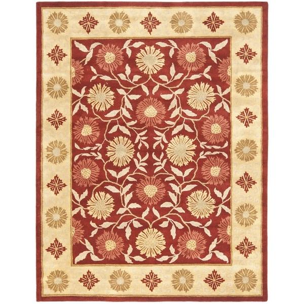 Safavieh Handmade Heritage Timeless Traditional Red/ Beige Wool Rug (7'6 x 9'6)