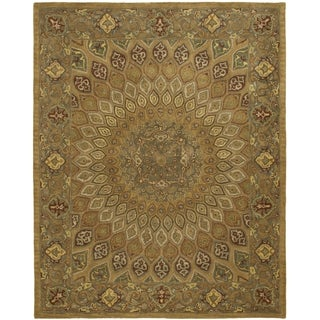 Safavieh Handmade Heritage Timeless Traditional Light Brown/ Grey Wool Rug (8'3 x 11')