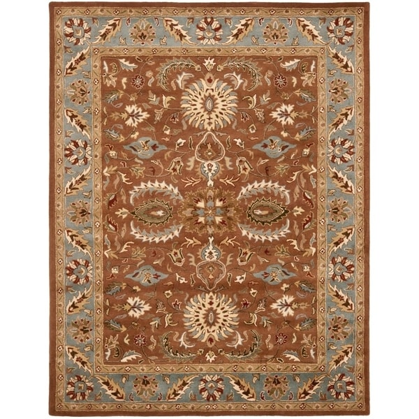 "Safavieh Handmade Heritage Timeless Traditional Brown/ Blue Wool Rug - 9'6"" x 13'6"""